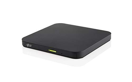 Hitachi-LG GP96 Externes CD/DVD Laufwerk, Portabler Slim Brenner für Smartphone/Tablet/TV, Android-kompatibel, Win 10 & Mac OS kompatibel, USB 2.0 (3.0 kompatibel), 8 x Schreibgeschwindigkeit, Schwarz