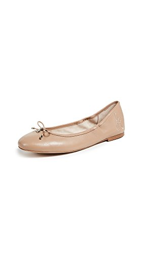 Sam Edelman Women's Felicia Ballet Flats, Classic Nude, Tan, 8 Medium US