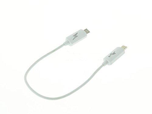 System-S OTG Host und Ladeadapter Kabel Micro USB zu Micro USB für Smartphone