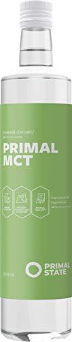 Primal State MCT Öl - Optimal für Bulletproof Coffee mit 70% Caprylsäure und 30% Caprinsäure aus 100% Kokosöl - 500ml Glasflasche