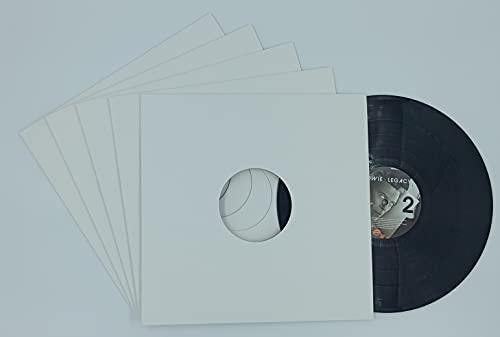 20 Pochettes de Protection extérieures en Carton Blanches pour Vos vinyles 33 Tours