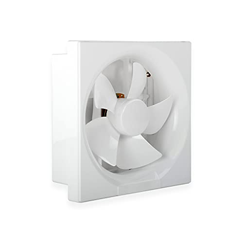 Luminous Vento Deluxe 150 mm Exhaust Fan for Kitchen, Bathroom, and Office (Cut-out Size - Sq 191 x 191 mm, White)