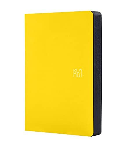 KUNNUI - Bee - Agenda Académica 2021-2022 - Día Página - Dietario Español e Inglés -384 Páginas - Incluye Libreta Bullet Journal de regalo y Pegatinas