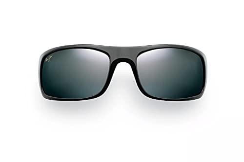 Maui Jim Peahi w/ Patented PolarizedPlus2 Lenses Polarized Lifestyle Sunglasses, Gloss Black/Neutral Grey Polarized, Large