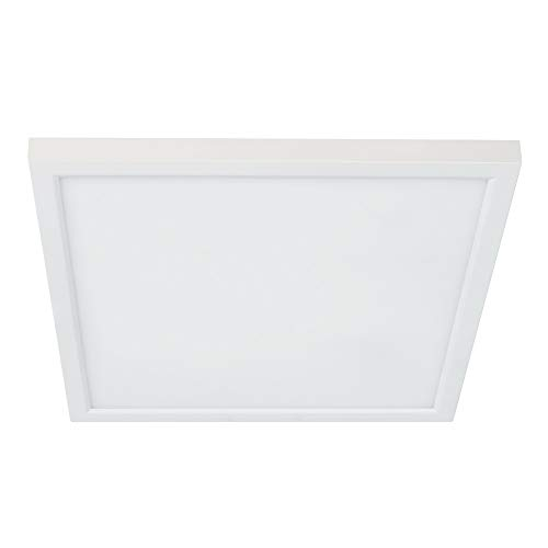 Feit Electric 74208/CA Dimmable Integrated LED Square Flat Panel, Edge-Lit, Color Selectable 3 in 1 Recessed Ceiling Flush Mount Light, Fit 5'/6' Can Fixture, Soft White, Bright White, Daylight