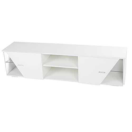 DAUERHAFT Mueble de TV Mesa de Mueble de TV Fuerte para Pantallas de TV por Debajo de 55 Pulgadas