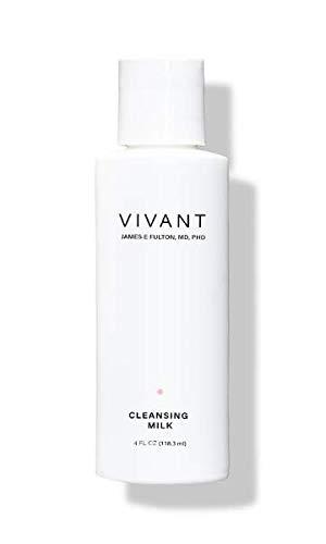Vivant Skin Care Limpiador de leche suave sin secar, extremadamente suave, cremoso y rico en humedad, 4 onzas líquidas