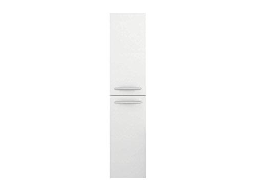 Preisvergleich Produktbild Hochschrank Libato - weiß Hochglanz - Badmöbel Badezimmermöbel Kommode hängend [Sieper Qualität aus Deutschland] (Hochglanz weiß)