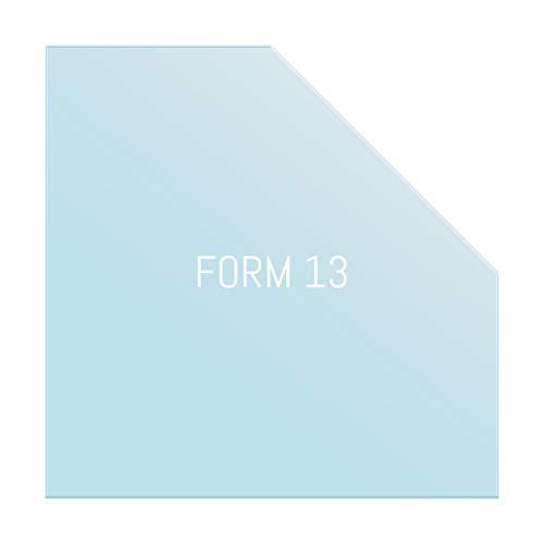 Glas Bodenplatte Funkenschutz Fünfeck Form mit Ecke 125x125cm 6mm Stärke mit Silikon Schmutzlippe ESG Einscheibensicherheitsglas für Kamin und Ofen Facettenschliff Klarglas