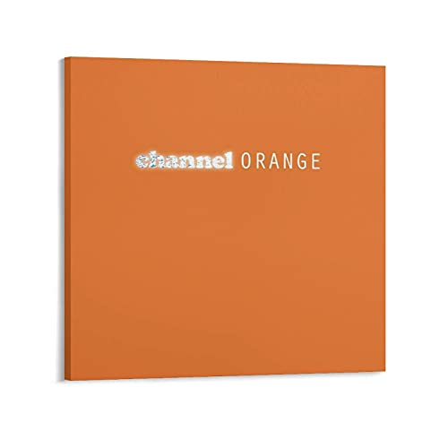 TANYI Frank Ocean Channel Orange Artworks Canvas Poster Room Aesthetic Wall Art Prints Home Modern Decor Gifts Framed-unframed 12×12inch(30×30cm)