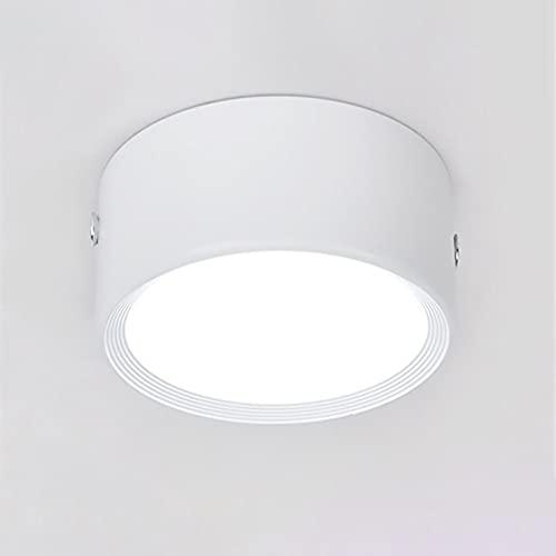 Sxxrdz Downlight de Techo con luz de Panel LED de 12W, lámpara de Montaje en Superficie Downlights Circulares para hogares comerciales - Dia 10cm Ultra Delgado 3cm [Clase energética A ++]