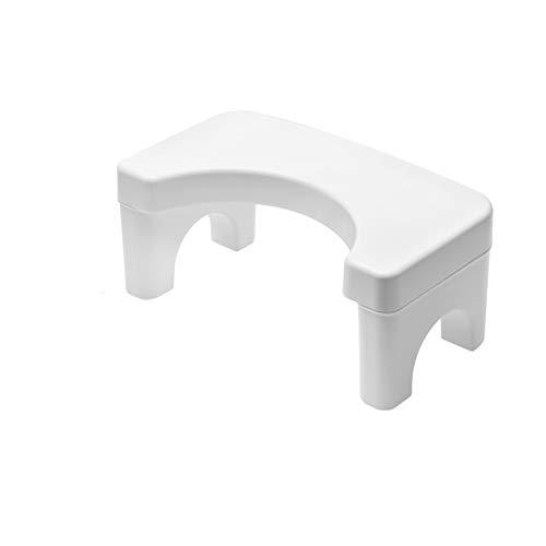Weiß ToiletSquat Toilettenhocker,Squatty Potty,Medizinische Toilettenhilfe Tritthocker,Wc Hocker Toiletten-Stuhl,Perfekte Höhe für die empfohlene Haltung,Toilettenhocker für eine gesunde Darmflora