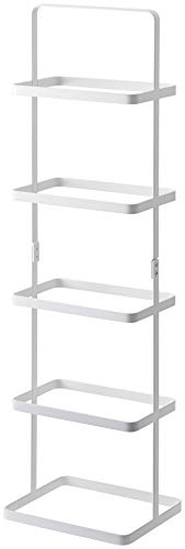 YAMAZAKI home Tower Handle Shoe Rack Organizer, White, Tall