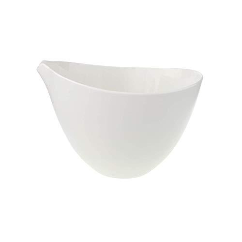 Villeroy & Boch Flow Terrine, mit Deckel, Schüssel für Suppen/Eintöpfe, Porzellan, spülmaschinen- und mikrowellengeeignet, weiß, 3 Liter