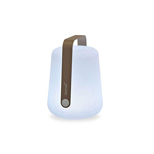 Fermob Balad mobile LED-Leuchte mit Akku, weiß muskat hellbraun Ø28cm H 38cm 3 Helligkeitsstufen + OFF