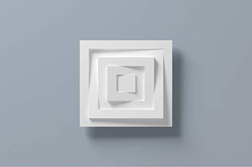 Cornisa//Moldura decorativa techo blanca NMC NOMASTYL/® QR 21X21X2000mm Poliestireno 10 metros