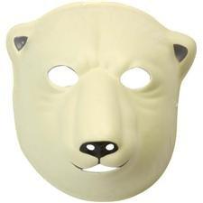 Wild Republic 23366 - Maske für Kinder und Erwachsene,Eisbär, 21 x 19 cm