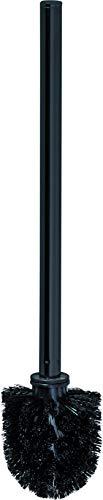 FACKELMANN Ersatz Toilettenbürste New York/Klobürste für Glas Toilettenbürstenhalter/Maße (B x H x T): ca. 7,5 x 37,5 x 7,5 cm/Accessoire fürs Bad & WC im Industriedesign/Farbe: Schwarz