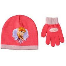 Disney Set da 3 Cappelli e 3 Guanti Frozen Elsa e Anna Bambine