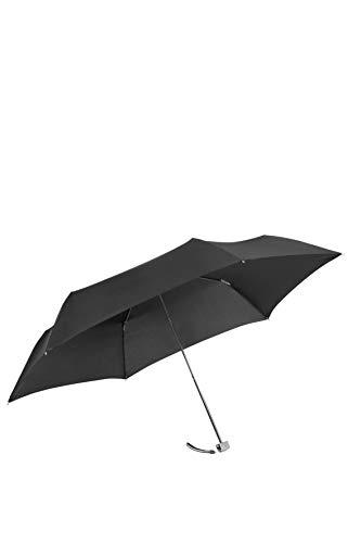 SAMSONITE Rain Pro - 3 Section Manual Ultra Mini Flat Ombrello Pieghevole, 22 cm, Nero (Black)