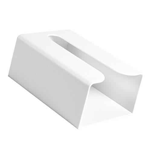 TOPBATHY Dispensador de toallas de papel montado en la pared, organizador de pañuelos de papel para cocina, baño, baño, baño, color blanco