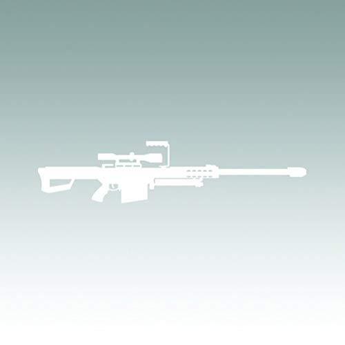 RDW Barrett 50 Cal M82A1 Sticker - Decal - Die Cut - Sniper Rifle - White 4.00' x 0.92'