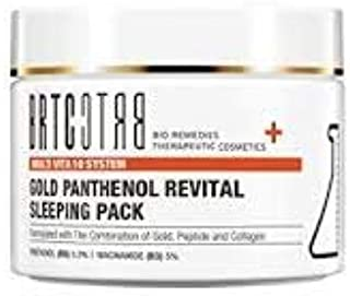 BRTC Gold Panthenol Revital Sleeping Pack 1's 100ml formulated with Gold, Rose Oil, Peptide and Collagen