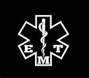 Chase Grace Studio EMT Paramedic Star of Life Vinyl Decal Sticker White Cars Trucks Vans SUV Laptops Tool Box Wall Art 5  X 5  CGS305
