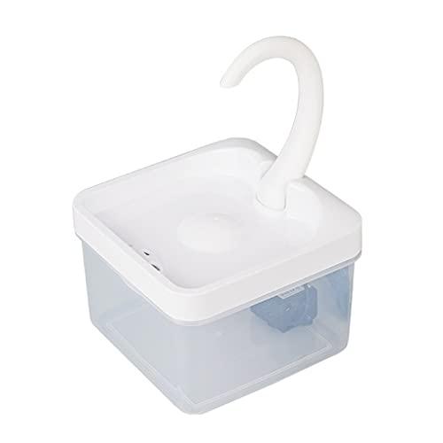 ShiftX4 Fuente de agua para gatos, fuente de agua para gatos y perros con filtro de triple filtración, fuente de gato ultra silencioso, 64 oz/2 l