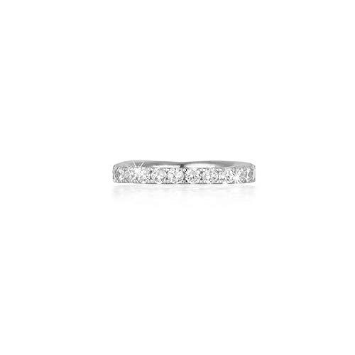 MABINA: Anello donna veretta in argento 925 e zirconi, 523074-17