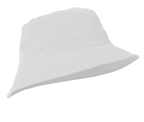 MFAZ Morefaz Ltd Unisex Fischerhüte Baumwolle Twill Bucket Hat Anglerhut Zum Wandern Camping Reisen (White)