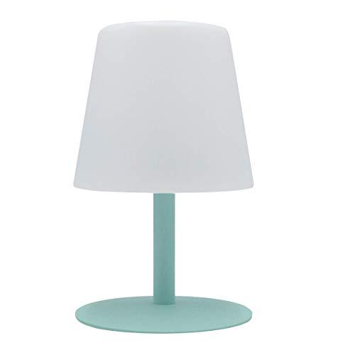 Lumisky - Lámpara de mesa de jardín con luz blanca inalámbrica con batería STANDY Mini Mint con LED 26 cm, ABS, verde, 15 x 15 x 26 cm