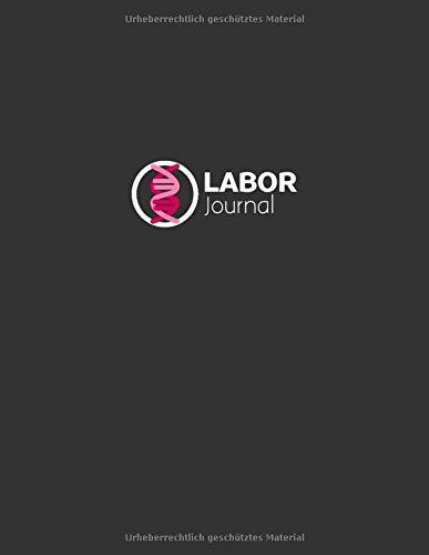Laborjournal: Laborbuch / Labortagebuch / Labor Notizbuch für Chemiker, Physiker, Biologen, Mediziner, Laboranten, ca. A4, kariert mit Inhaltsverzeichnis, 100 Seiten, DNA pink/rot