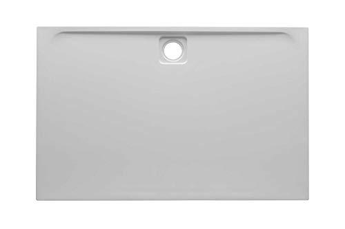 Evan Slimline Ultra Slim Bathroom Easy Clean Acrylic Cast Stone Rectangle Shower Tray- 1400 x 900