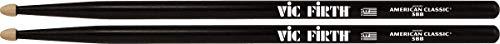 Vic Firth 5BB - Baqueta (5b, punta de madera), color negro