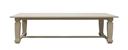 Casa Padrino Mesa de Comedor de Lujo de Estilo campestre Gris Claro 220 x 100 x A. 77 cm - Mesa de Cocina de Madera Maciza Hecha a Mano - Muebles de Madera Maciza de Estilo campestre
