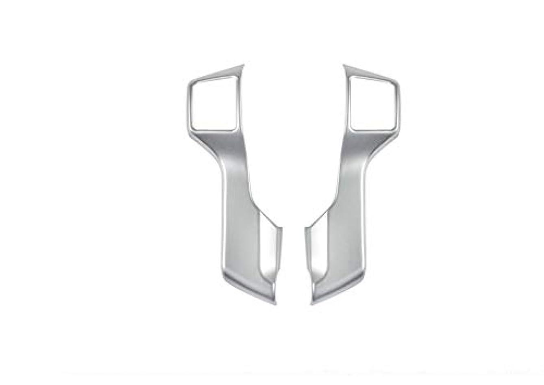 士気ロータリー発揮するJicorzo - 2PCS Chrome ABS Steering Wheel Molding Cover Trim For Toyota Prado FJ150 2010-2018 Car Interior Accessories Styling
