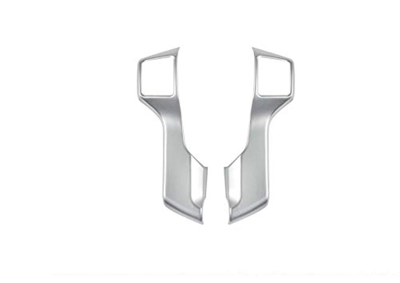 遠足公爵夫人雪だるまを作るJicorzo - 2PCS Chrome ABS Steering Wheel Molding Cover Trim For Toyota Prado FJ150 2010-2018 Car Interior Accessories Styling