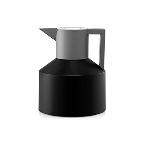 304 de acero inoxidable de gran capacidad, frascos con aislamiento para el hogar, hervidor de agua, doble capa, vacío, té, café, termo, olla, botella de agua caliente, 1200 ML, NEGRO