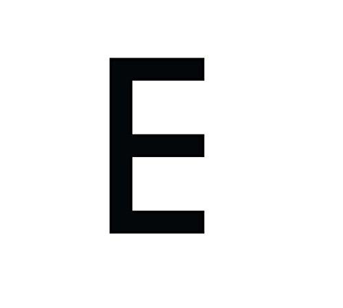 Buchstaben Aufkleber, wetterfest, einzelner Buchstabe E, schwarz, 10 cm (100mm) großgeschrieben