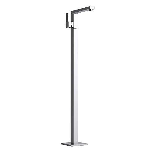 Mai & Mai Mezclador de lavabo y bañera de libre instalación Cascada1 Noble cromado en plateado de 103,5 cm de altura