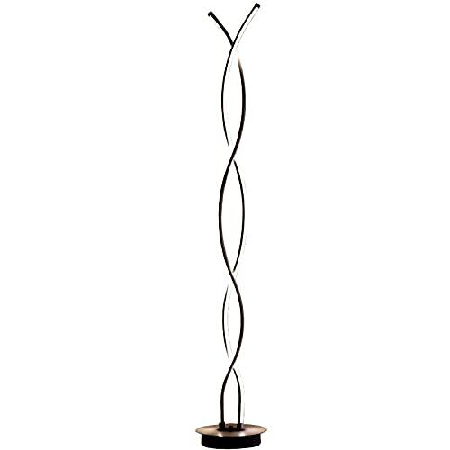 HQYXGS Lámpara De Pie Ondulada, Diseño Moderno Decoración Regulable con Mando A Distancia Luz De Pie Lámpara De Suelo con Interruptor De Pie para Salón Dormitorio Oficina,Negro,A