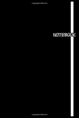 black Notebook: (6 x9 inches) - 100 Pages - Black Cover Paperback
