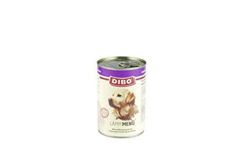 DIBO – MENÜ LAMM, 400g-Dose mit Süßkartoffeln, Gemüse und Distelöl, DIBO-Qualität