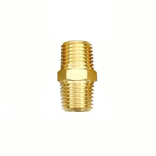 Doamt Zmaoyun-Tubos de latón 1/8'1/4' 3/8'1/2' NPT BSPT Hex Nipple EUQAL Reduer Tubo de latón Conector de conexión Adaptador de Agua Agua de Gas, Material de latón Duradero (Color : NO5)