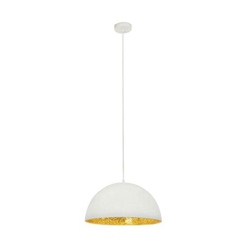 Brilliant Crush Pendelleuchte 40cm weiß/gold, 1x E27 geeignet für Normallampen bis max. 40W