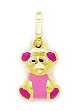 14ct amarillo Rosa esmalte oso de peluche lámpara de techo - mide...