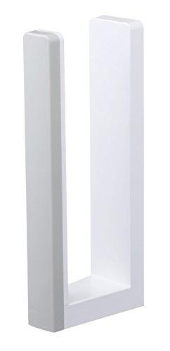 山崎実業 キッチンペーパーホルダー ストッパー付きマグネットキッチンペーパーホルダー プレート ホワイト 3420