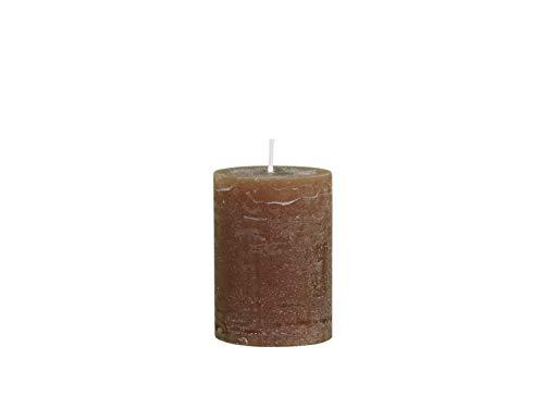 Chic Antique Macon rustikale Stumpenkerze versch.Farben ud Größen Kerze Antik NEU Altarkerzen 100 % Paraffin lange Brenndauer (Walnuss, 10x7cm)