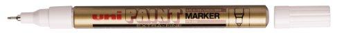 Uni Paint Marker PX203 OR Marqueur Peinture à l'huile Pointe Ultra Fine 0,4 mm Or Lot de 12